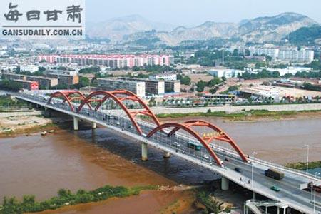 兰州雁滩黄河大桥 - 甘肃_乐乐简笔画